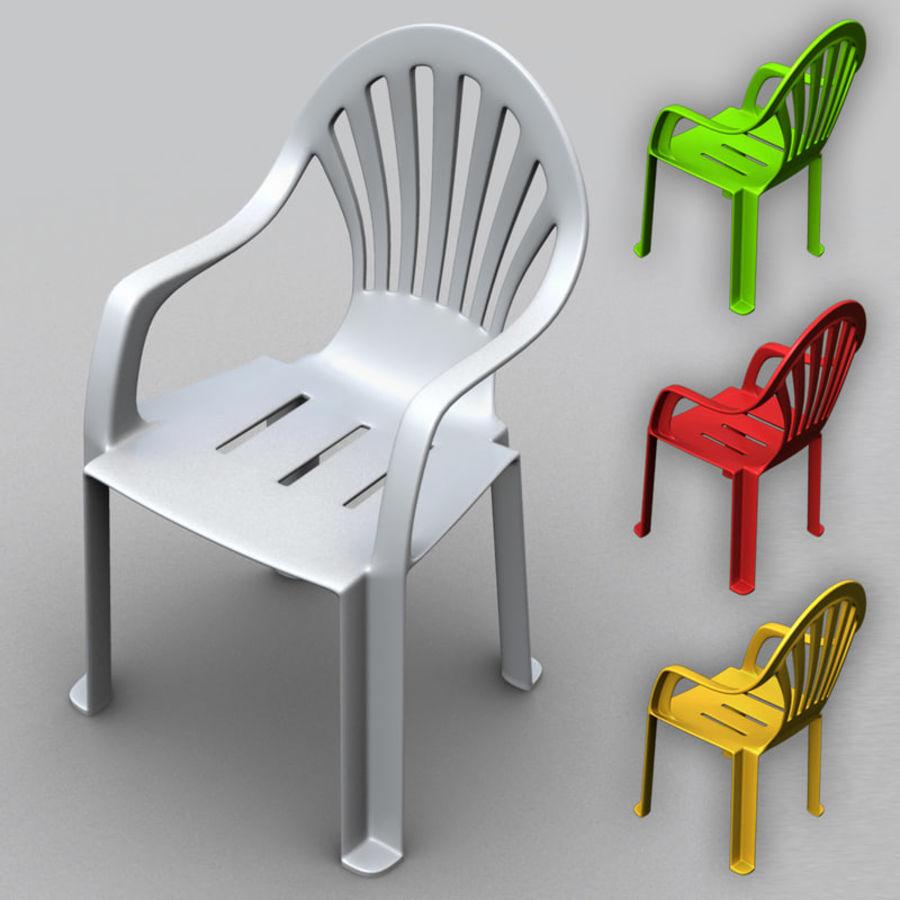 Sedia di plastica Modello 3D $8 - .obj .ma .max .fbx - Free3D