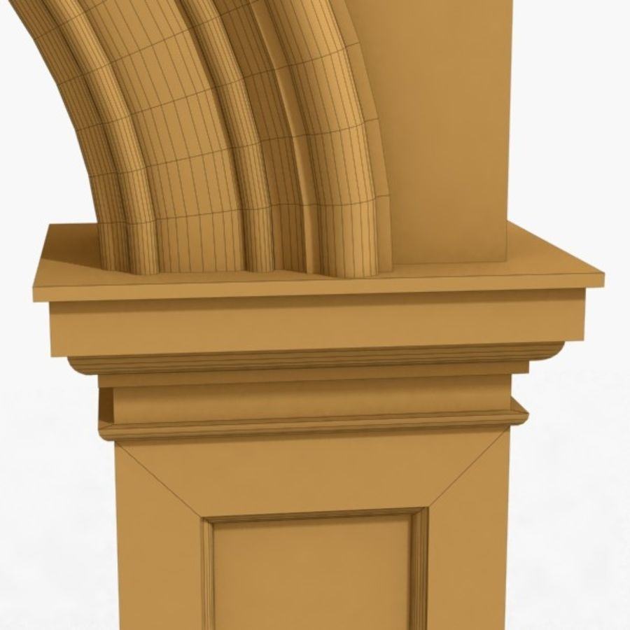 Arch 007 8ft - 1 royalty-free 3d model - Preview no. 5