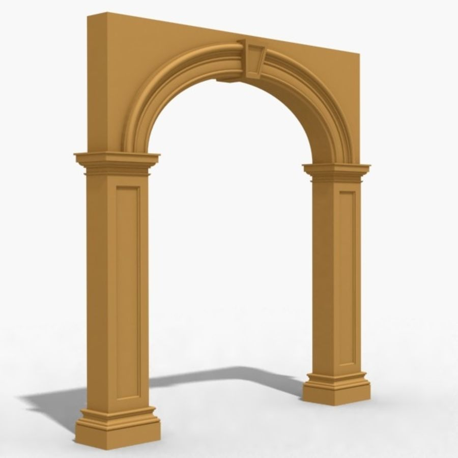 Arch 007 8ft - 1 royalty-free 3d model - Preview no. 1