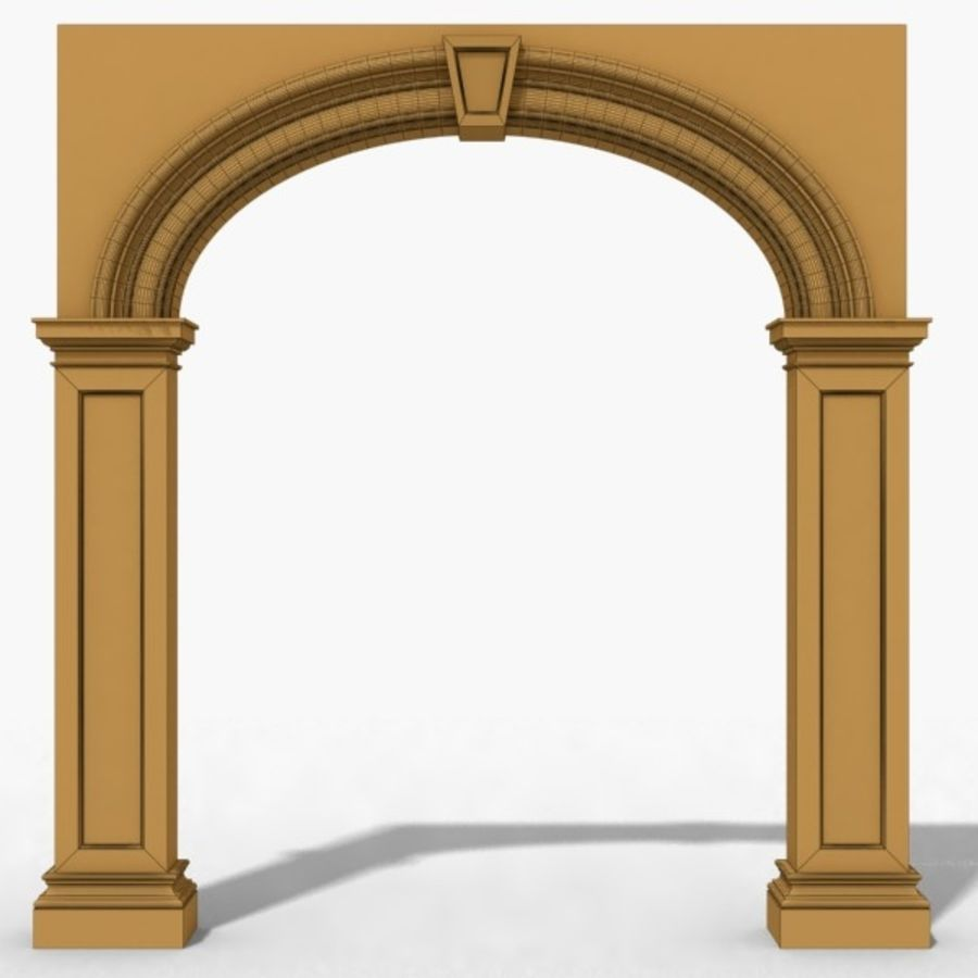 Arch 007 8ft - 1 royalty-free 3d model - Preview no. 3