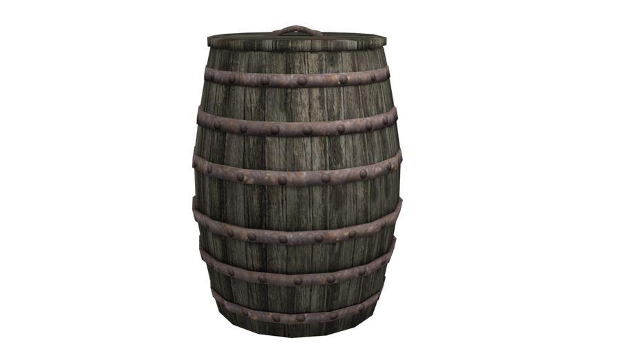 Big wooden barrel royalty-free 3d model - Preview no. 1