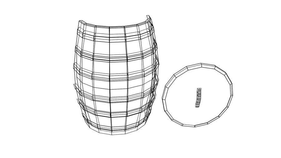 Big wooden barrel royalty-free 3d model - Preview no. 5