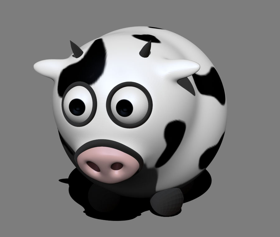 Cow royalty-free 3d model - Preview no. 1