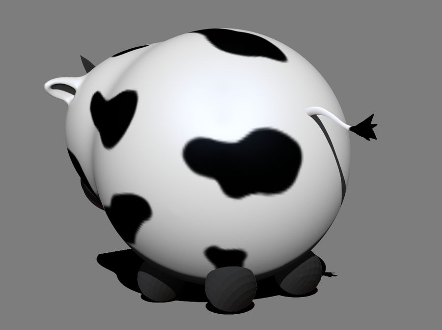 Cow royalty-free 3d model - Preview no. 3