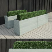 Modern Hedge 2 3d model