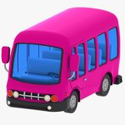 Cartoon Minibus 2 3d model