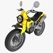 Cartoon Motocross 2 3d model
