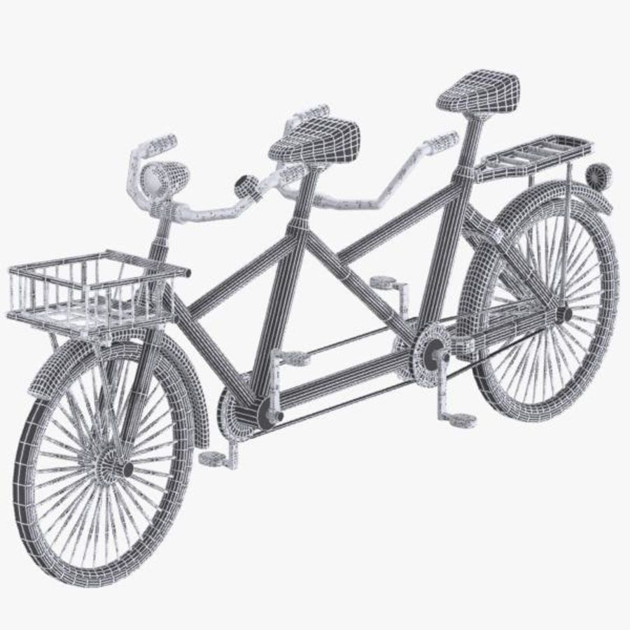 Cartoon Tandem Bicycle royalty-free 3d model - Preview no. 10