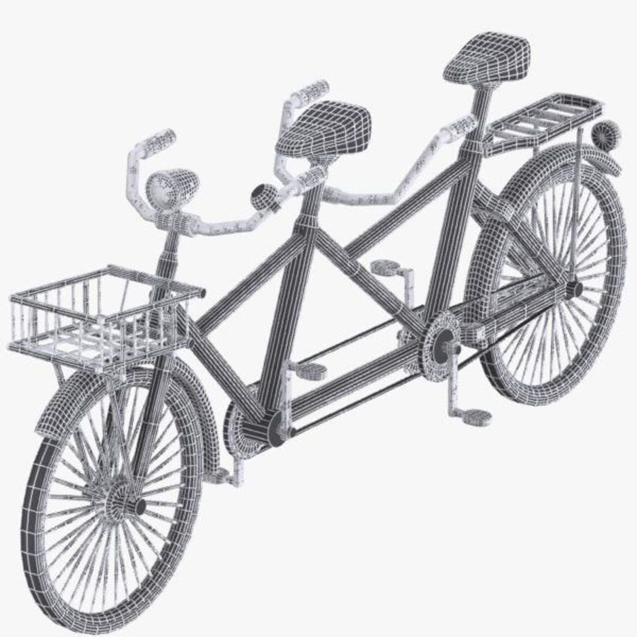 Cartoon Tandem Bicycle royalty-free 3d model - Preview no. 14