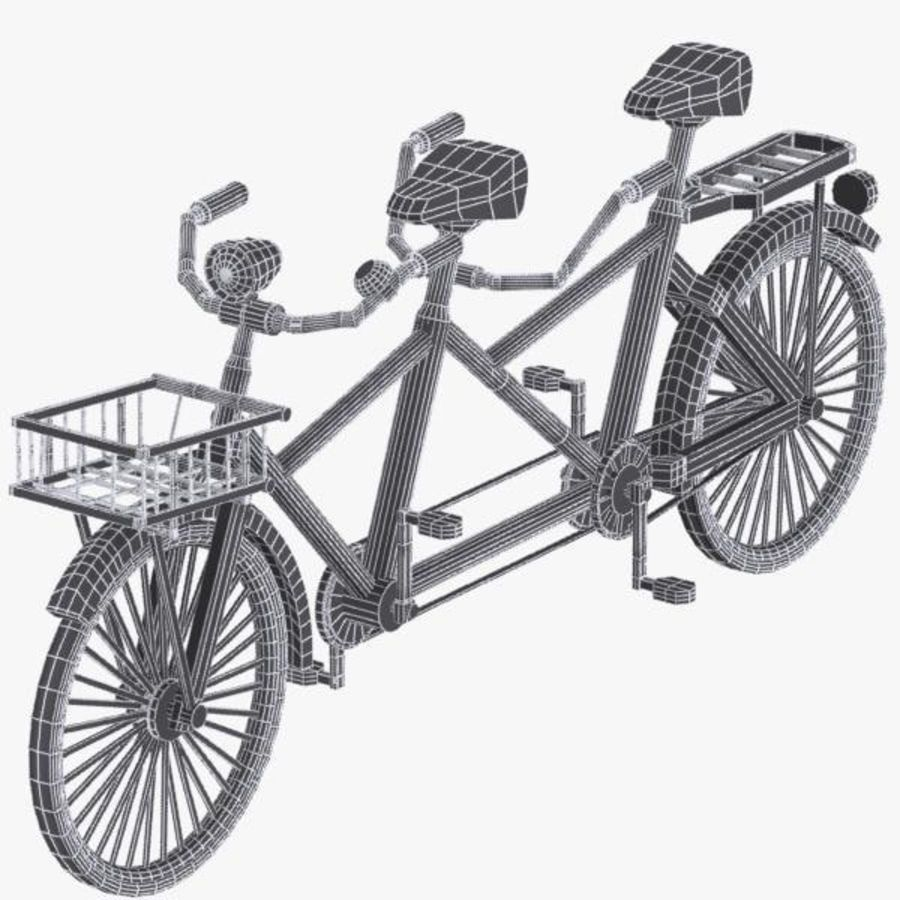 Cartoon Tandem Bicycle royalty-free 3d model - Preview no. 13