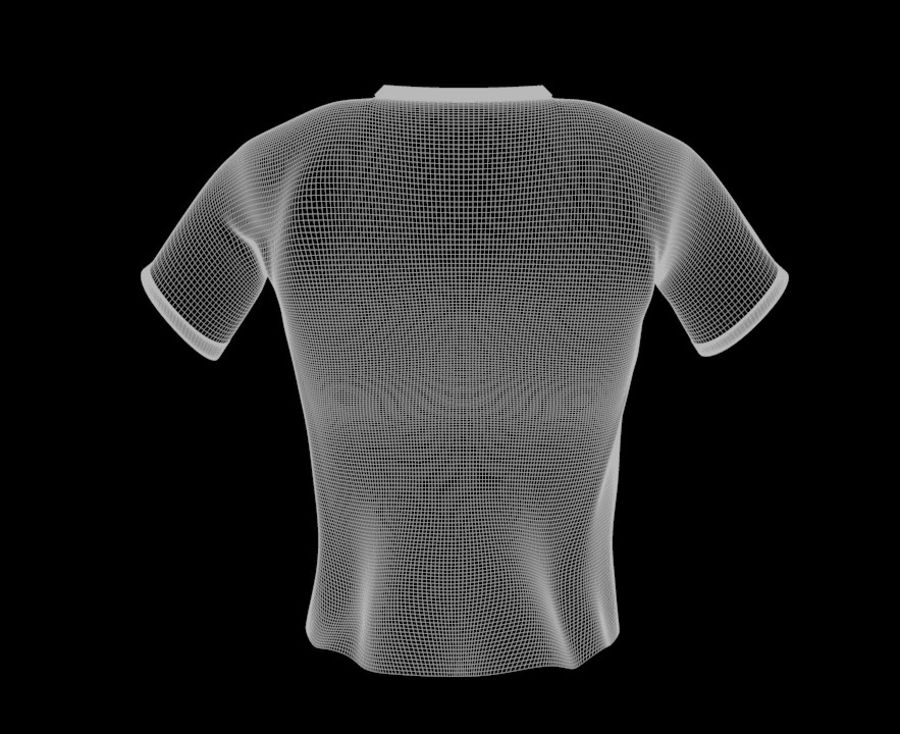 T-shirt Nike football royalty-free 3d model - Preview no. 9