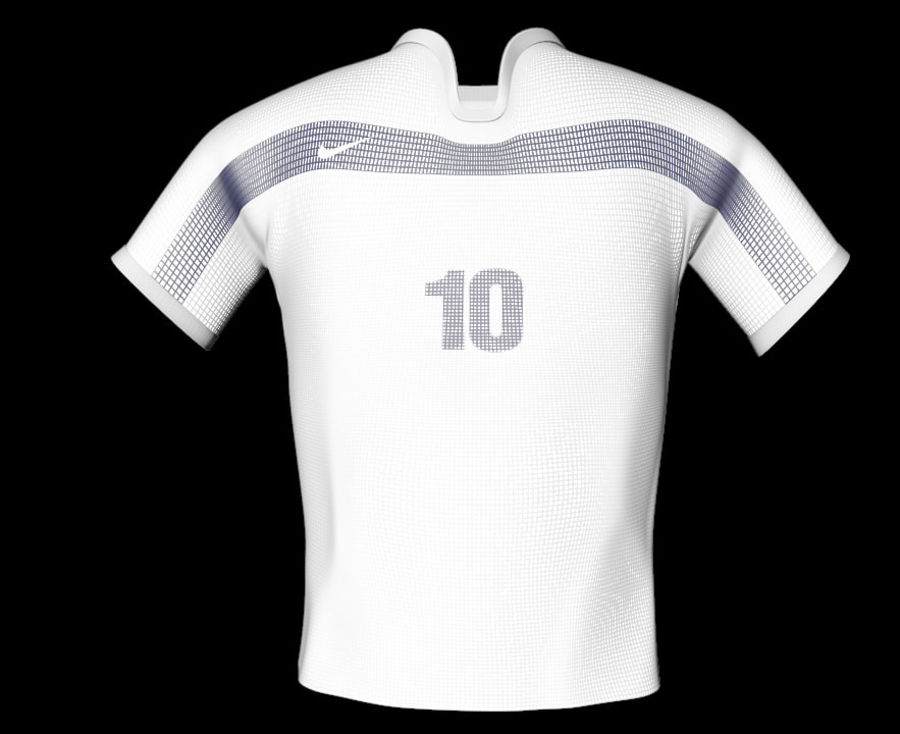 T-shirt Nike football royalty-free 3d model - Preview no. 10