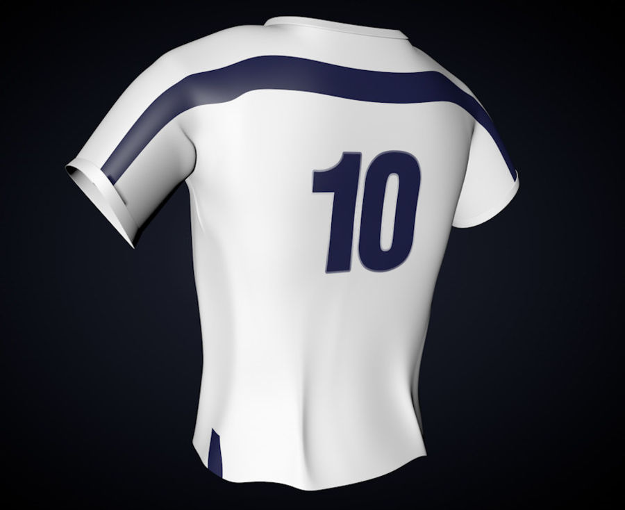 T-shirt Nike football royalty-free 3d model - Preview no. 3