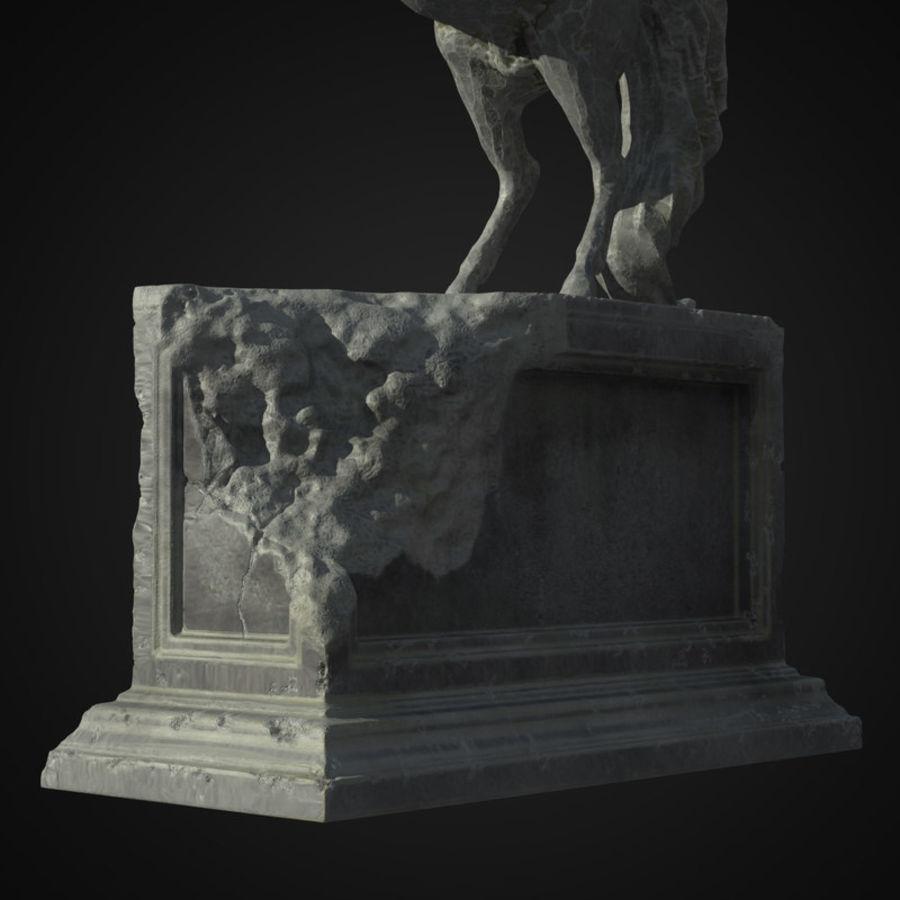 Ruin Statue Pegasus royalty-free 3d model - Preview no. 7