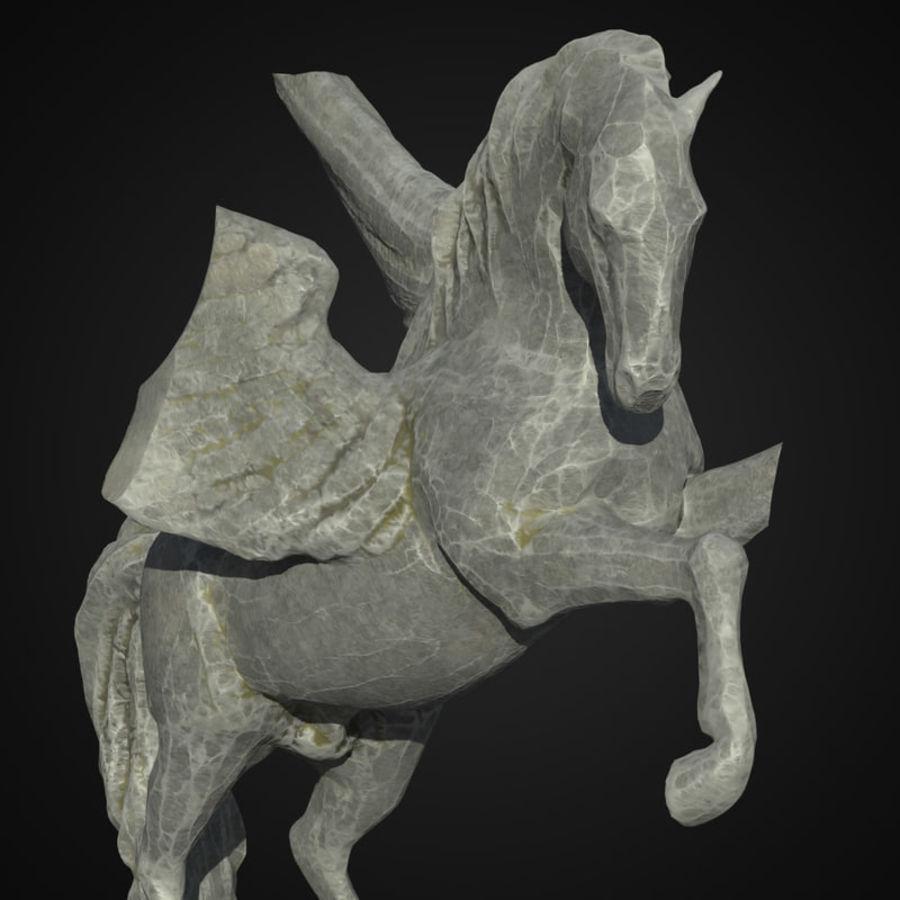 Ruin Statue Pegasus royalty-free 3d model - Preview no. 2
