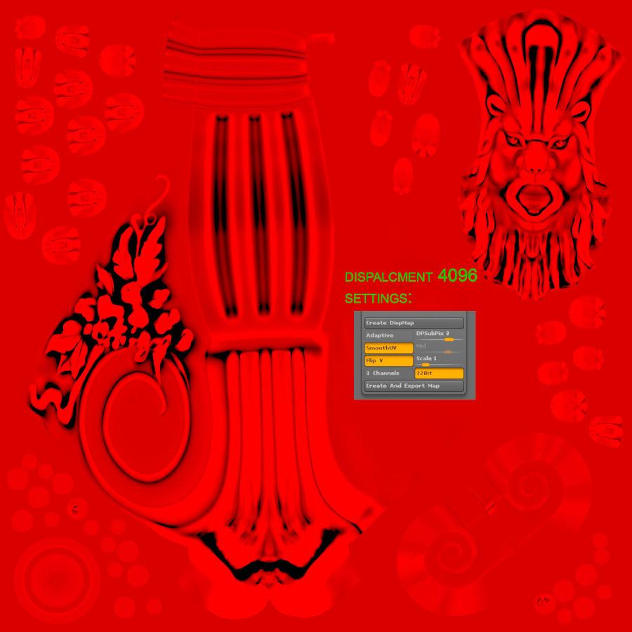 Volute scroll lion 3D Model $9 -  unknown  obj  fbx  blend - Free3D
