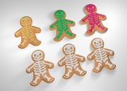 Halloween Gingerbread Man 3d model