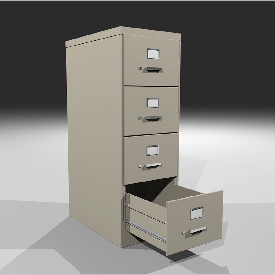 Filing Cabinet with Opening Drawers 3D Model $5 -  c4d - Free3D
