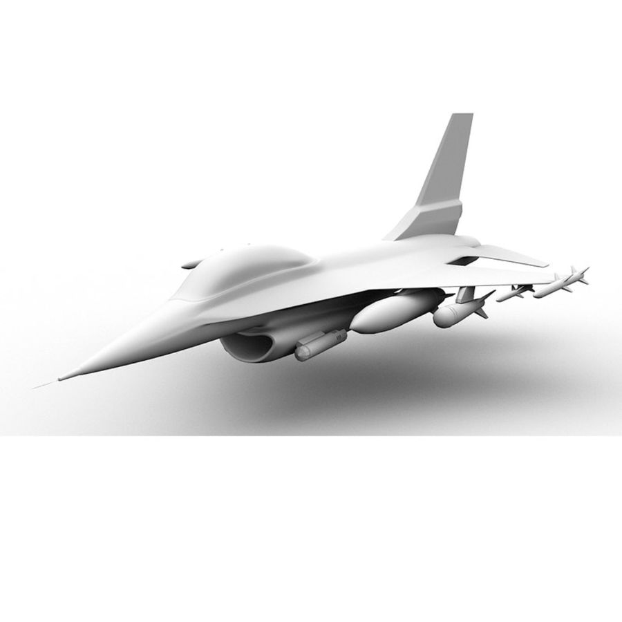 F16 Fighter Jet royalty-free 3d model - Preview no. 5
