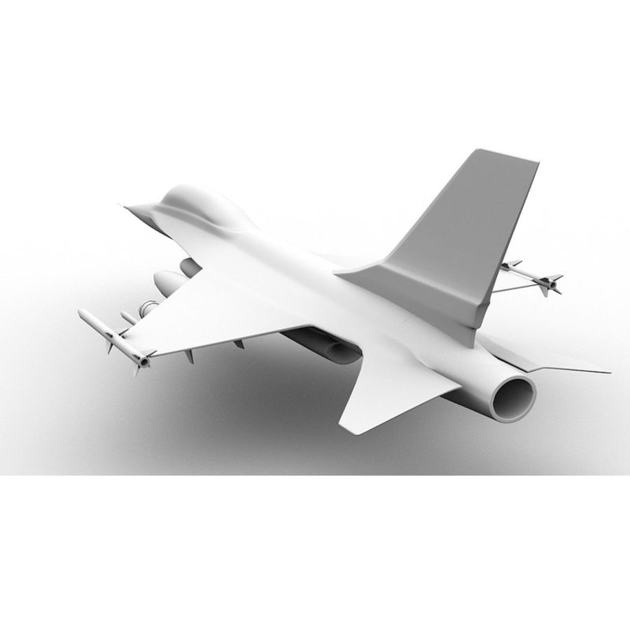 F16 Fighter Jet royalty-free 3d model - Preview no. 7