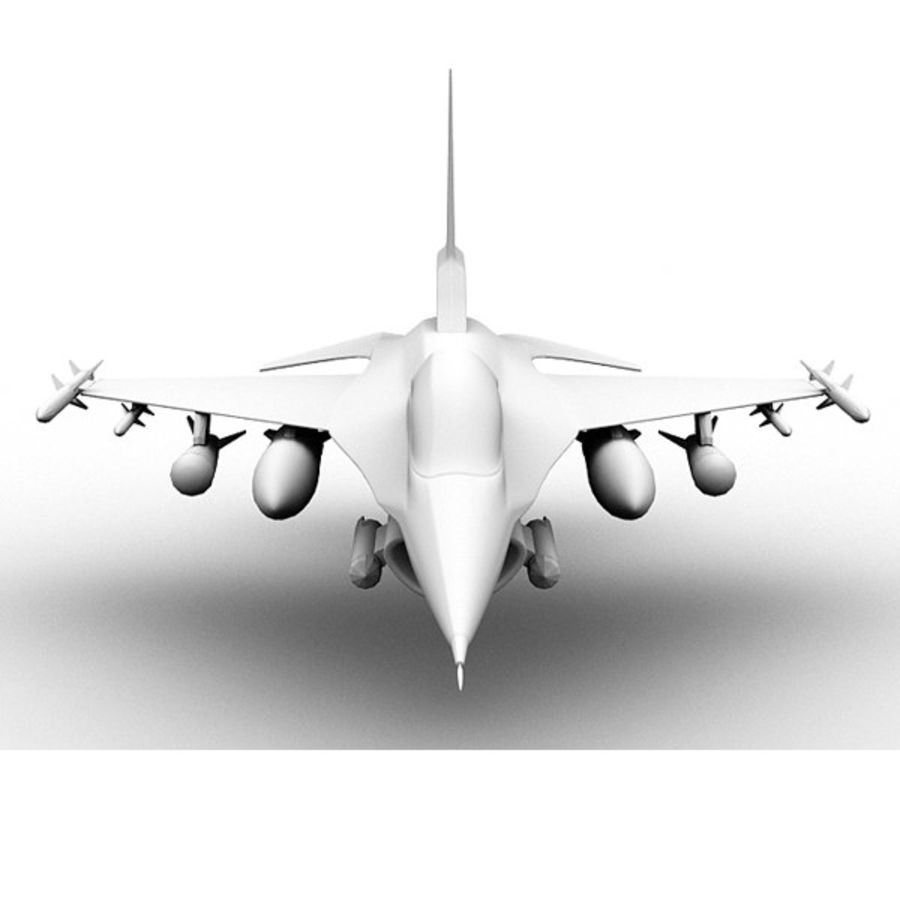 F16 Fighter Jet royalty-free 3d model - Preview no. 4