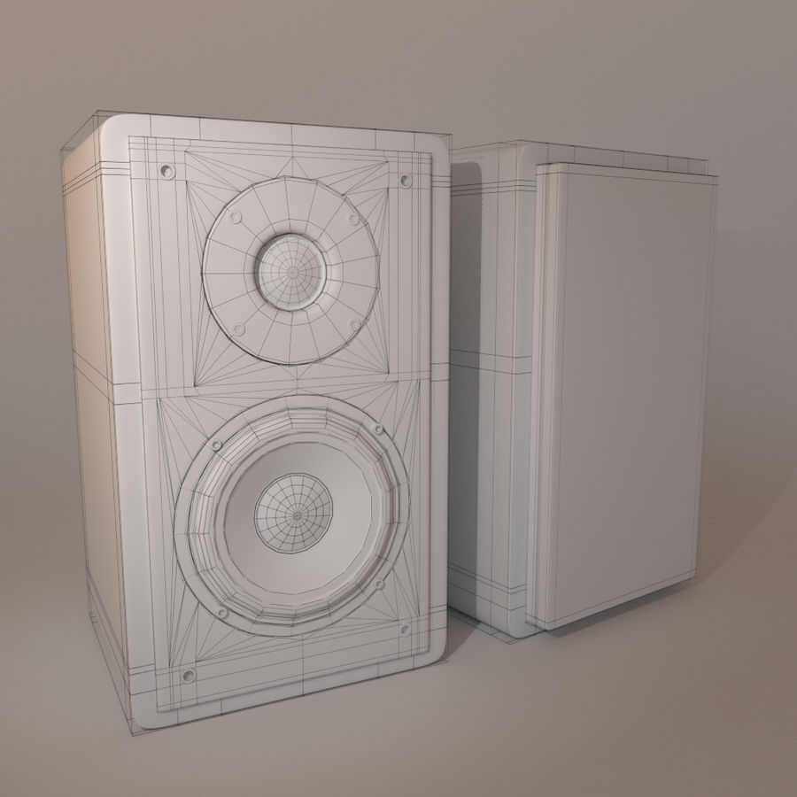 caixas de som royalty-free 3d model - Preview no. 4