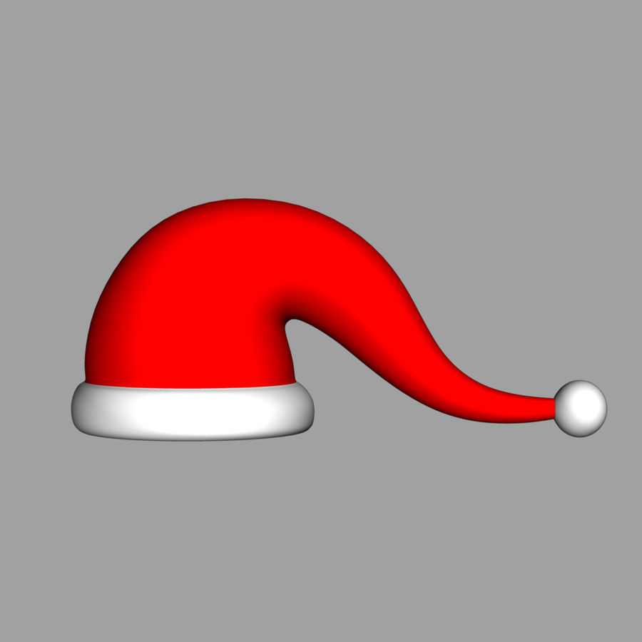 Christmas cap royalty-free 3d model - Preview no. 2