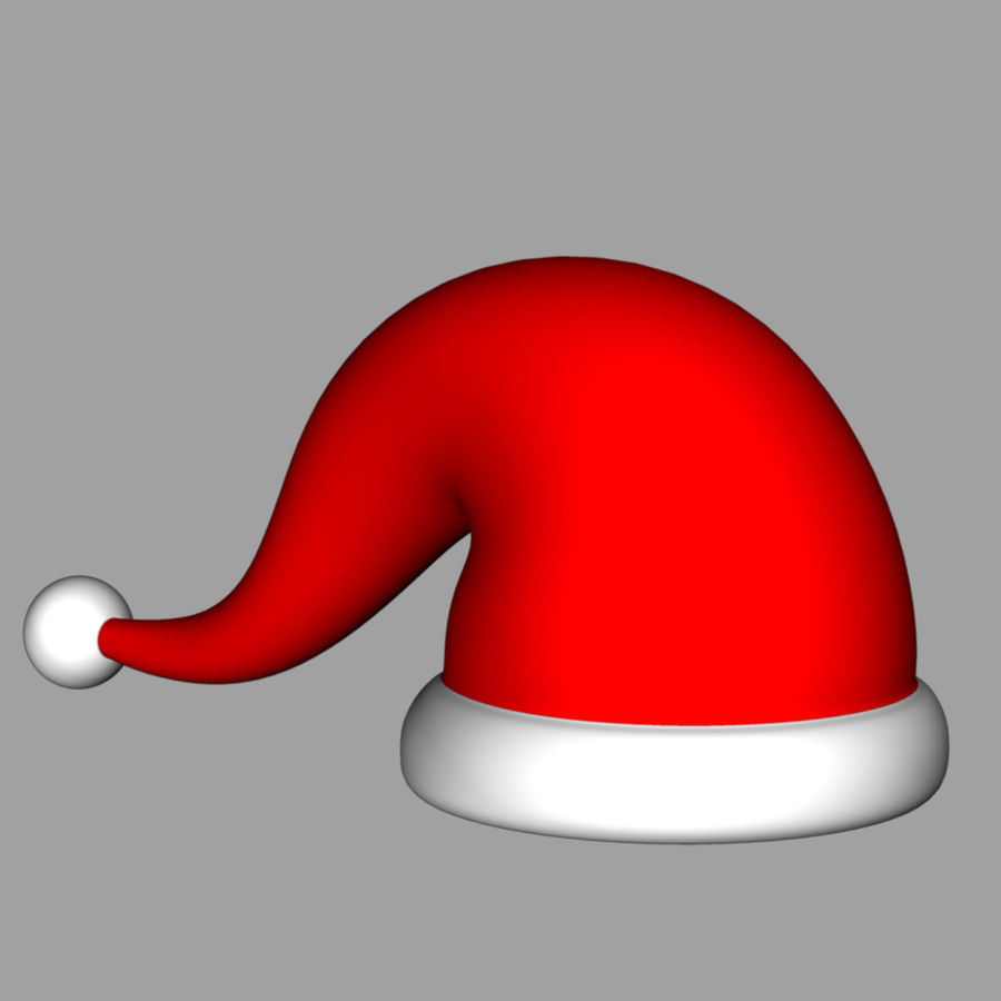 Christmas cap royalty-free 3d model - Preview no. 3