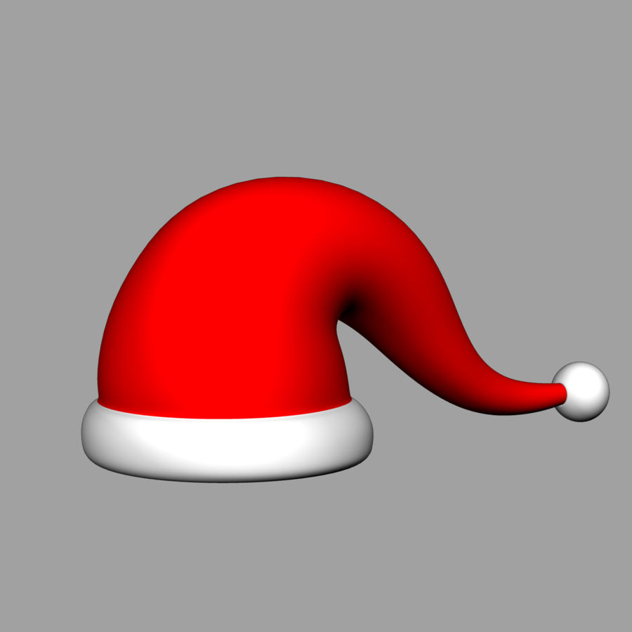 Christmas cap royalty-free 3d model - Preview no. 1