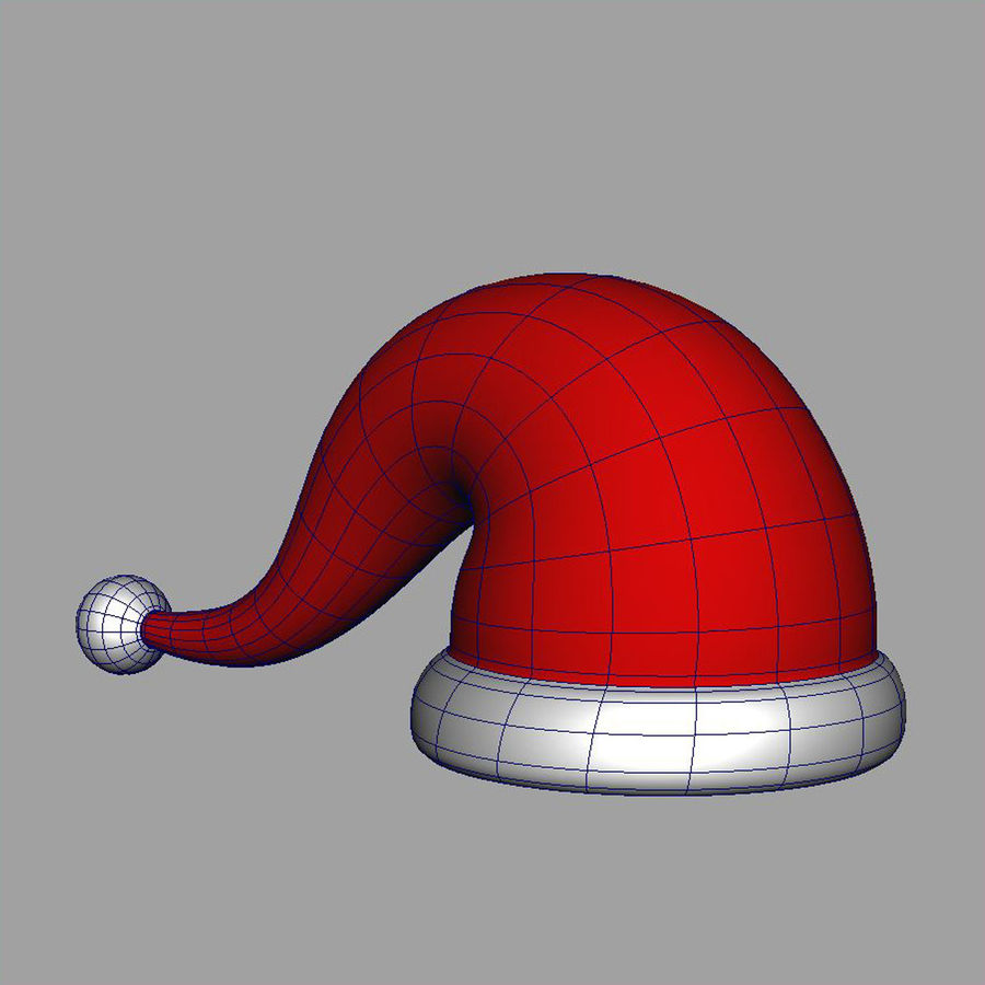 Christmas cap royalty-free 3d model - Preview no. 6