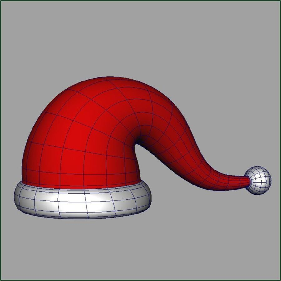Christmas cap royalty-free 3d model - Preview no. 4