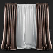 Curtains and blinds in a modern style 3d model