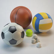 Collection_sport_balls 3d model
