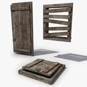 Medieval Floor Trap Door 3d model