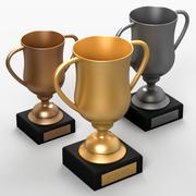 Trofeos modelo 3d