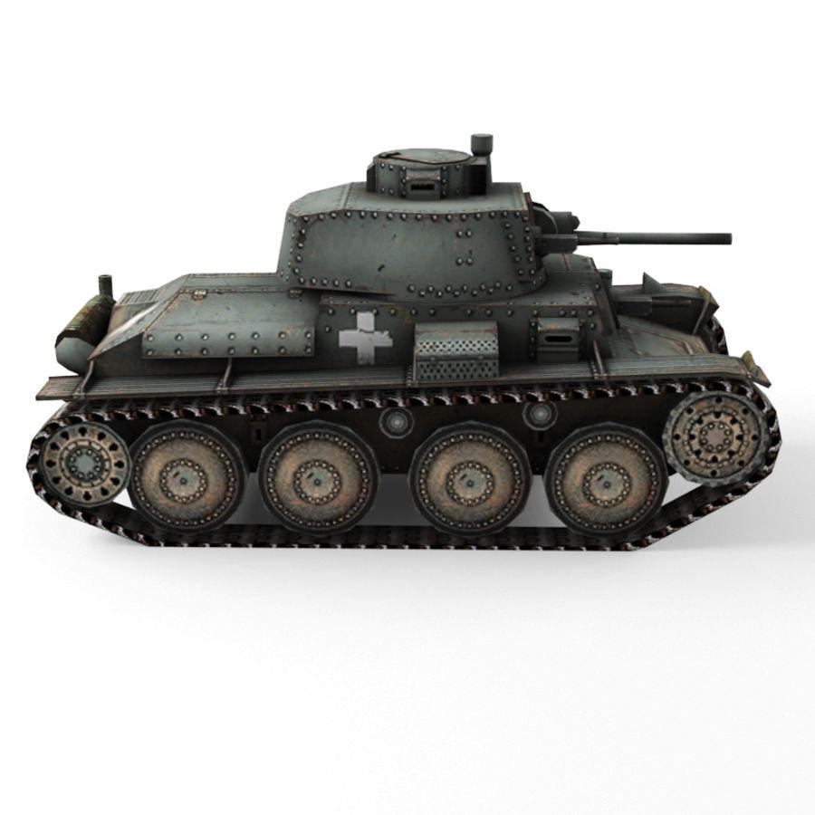 Pz 38 royalty-free 3d model - Preview no. 2