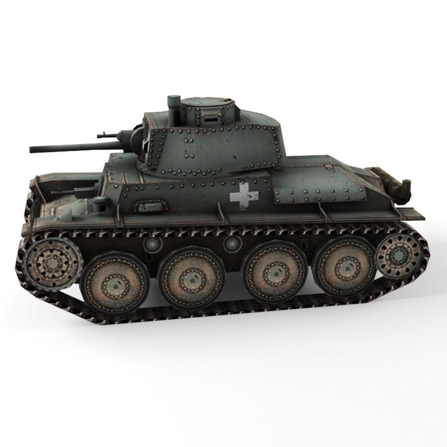 Pz 38 royalty-free 3d model - Preview no. 6