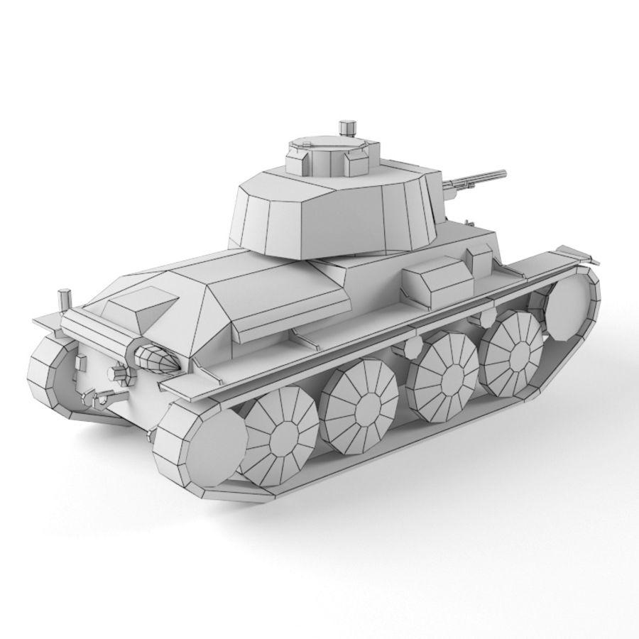 Pz 38 royalty-free 3d model - Preview no. 12