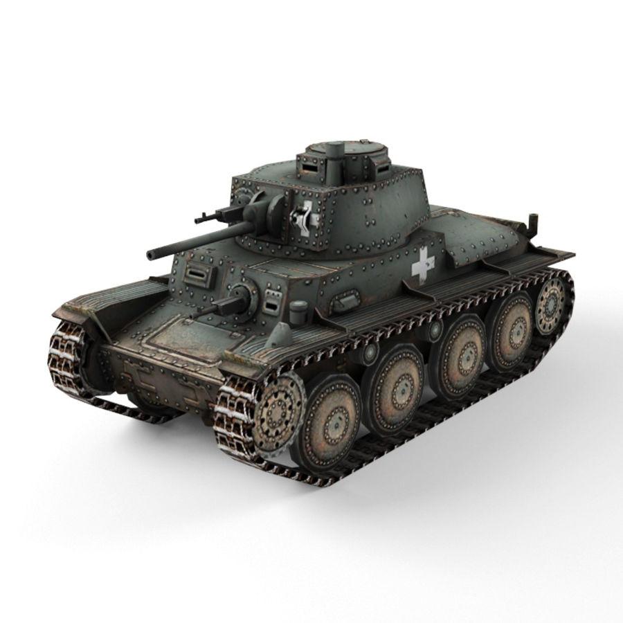 Pz 38 royalty-free 3d model - Preview no. 7