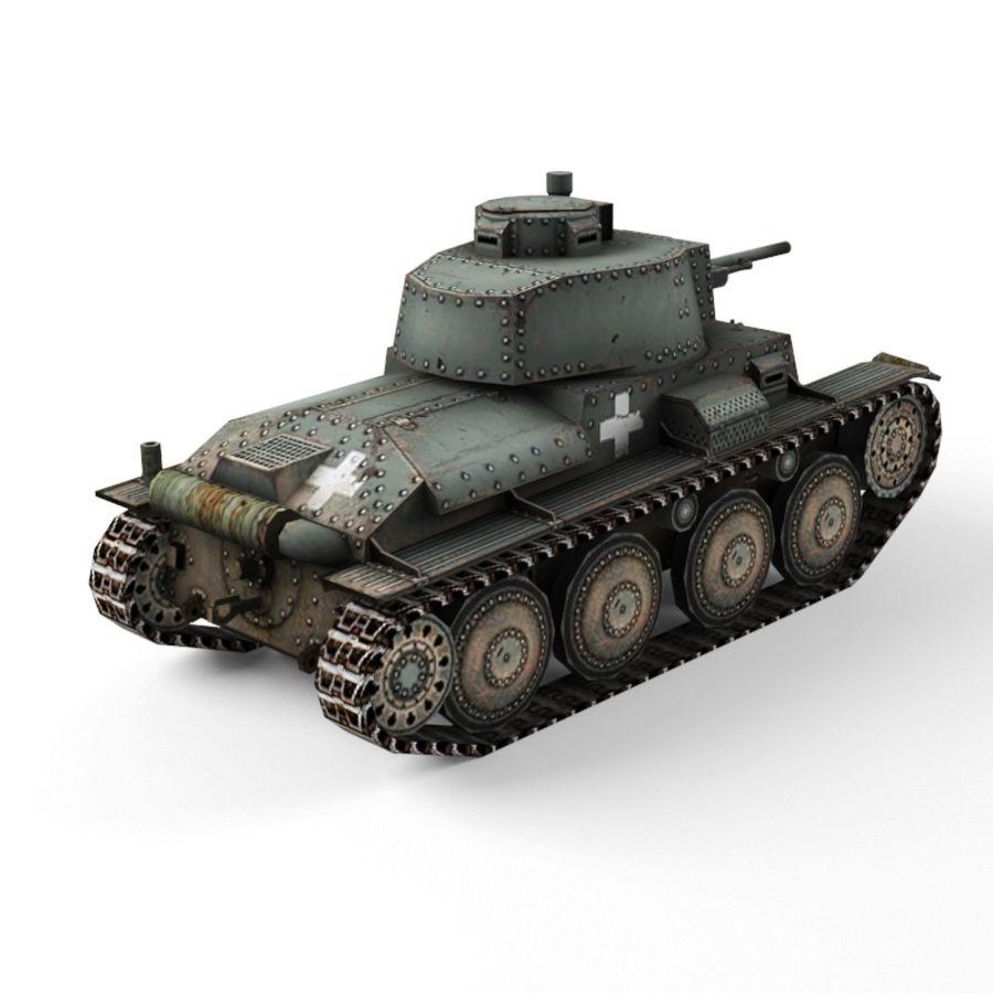 Pz 38 royalty-free 3d model - Preview no. 3