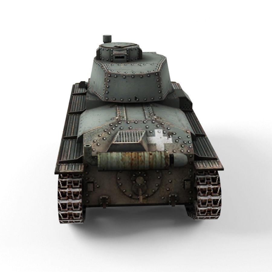 Pz 38 royalty-free 3d model - Preview no. 4