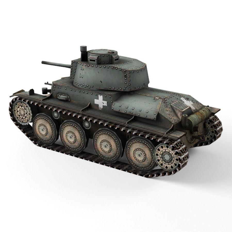 Pz 38 royalty-free 3d model - Preview no. 5