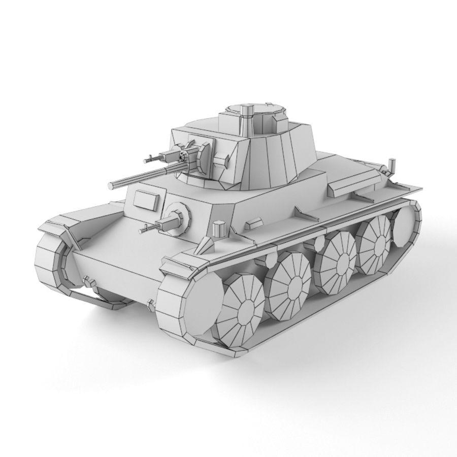 Pz 38 royalty-free 3d model - Preview no. 11
