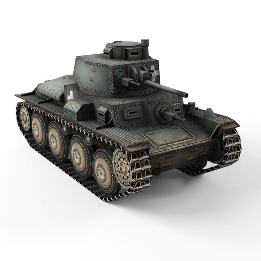 Pz 38 royalty-free 3d model - Preview no. 1