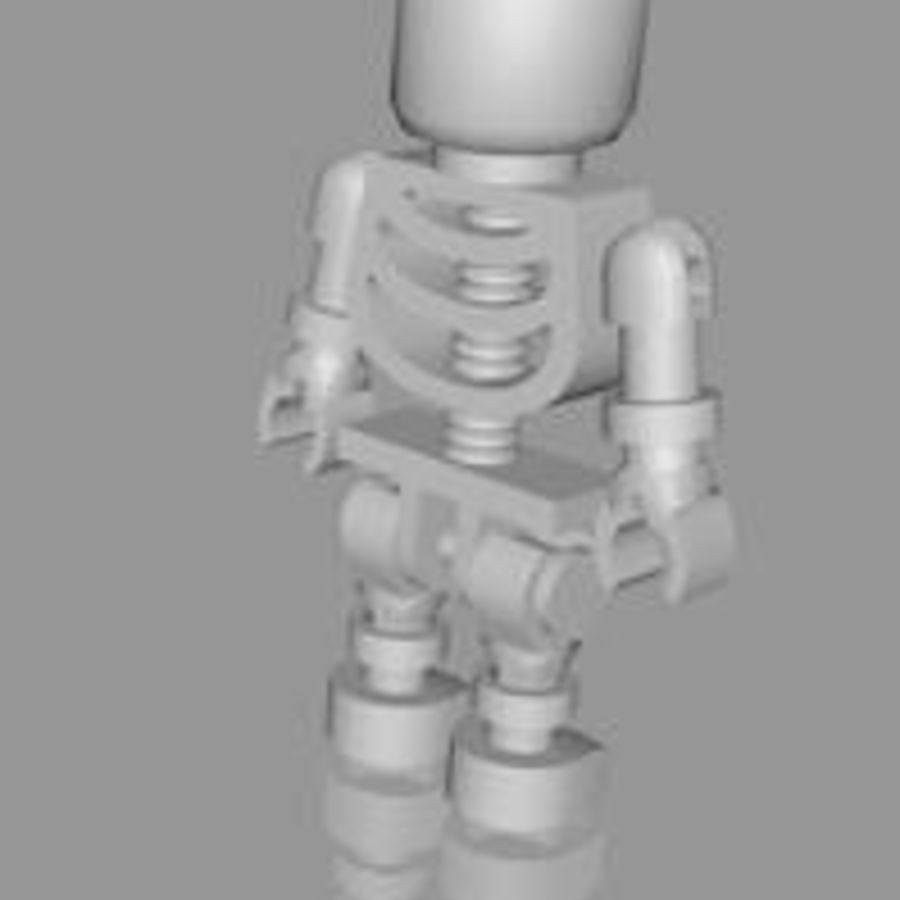 LEGO skeleton royalty-free 3d model - Preview no. 6