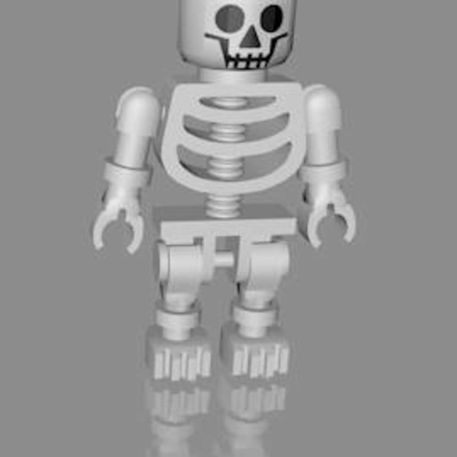 LEGO skeleton royalty-free 3d model - Preview no. 1
