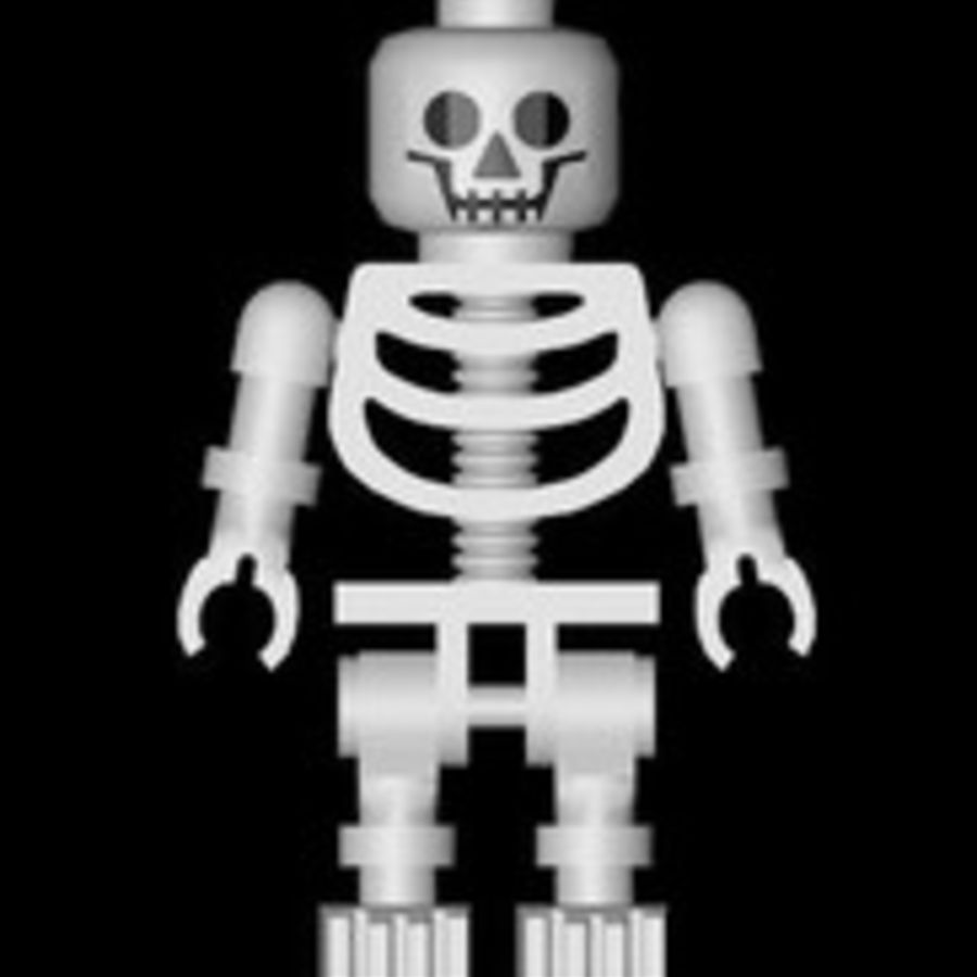 LEGO skeleton royalty-free 3d model - Preview no. 3