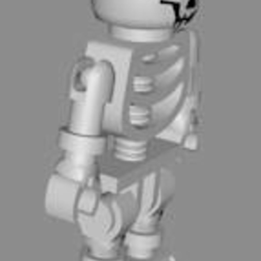 LEGO skeleton royalty-free 3d model - Preview no. 5