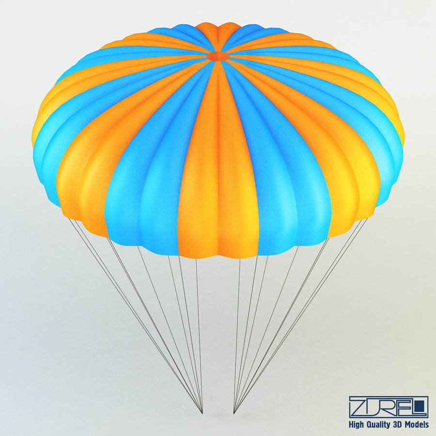 Parachute royalty-free 3d model - Preview no. 3