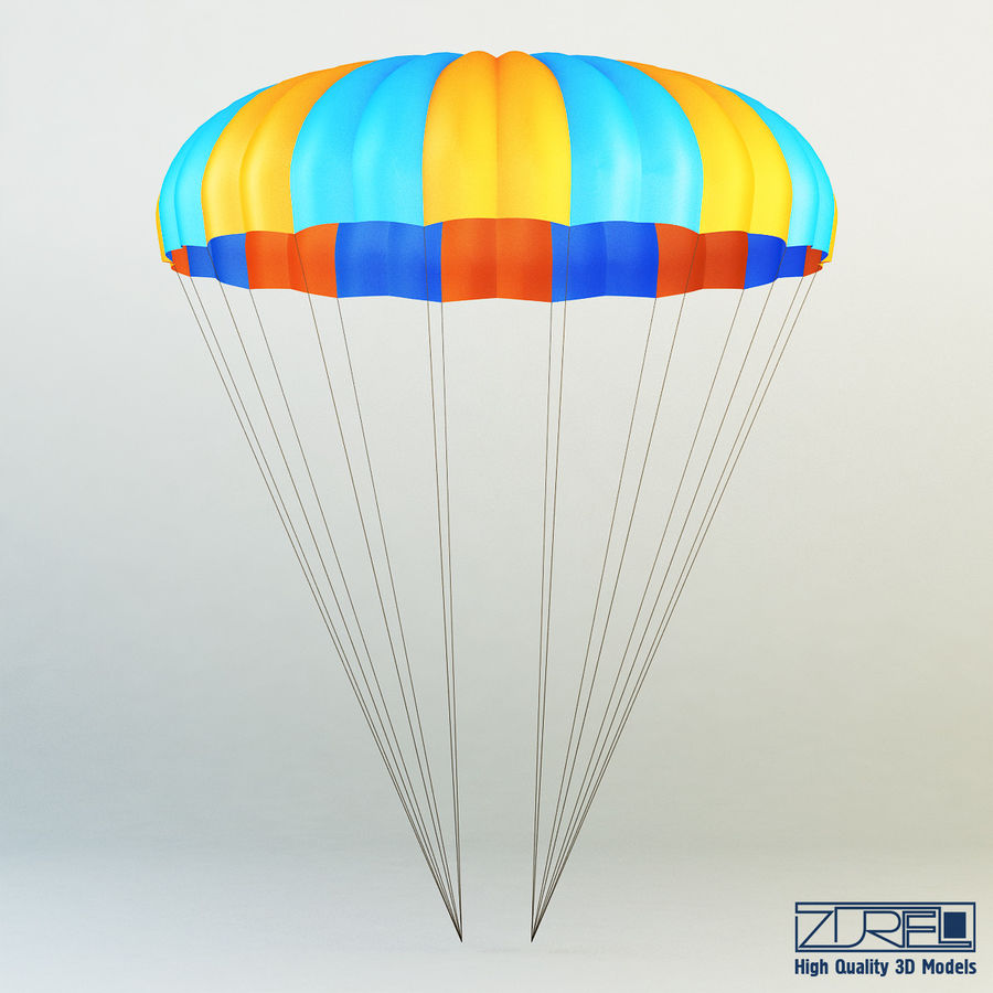 Parachute royalty-free 3d model - Preview no. 4